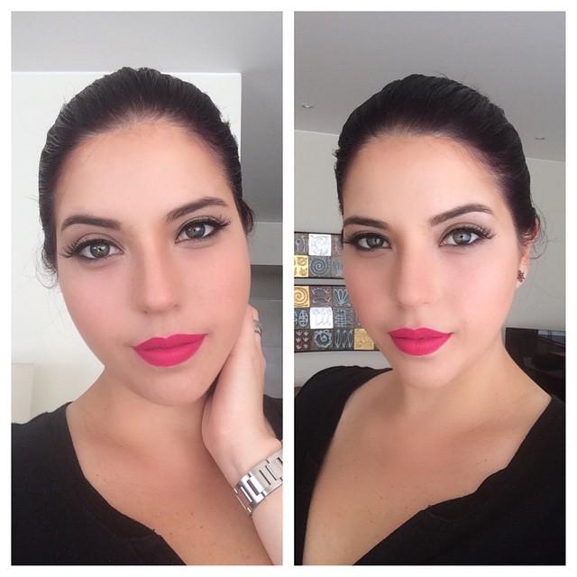 maquillaje natural para cara redonda